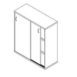111-2A-TO-100 tolóajtós szekrény - 3 fakk