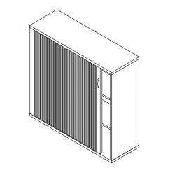 111-RED-120-B redőnyös szekrény balos kivitelben - 3 fakk