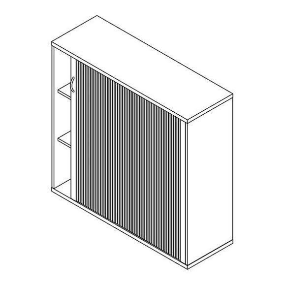 111-RED-120-J redőnyös szekrény jobbos kivitelben - 3 fakk