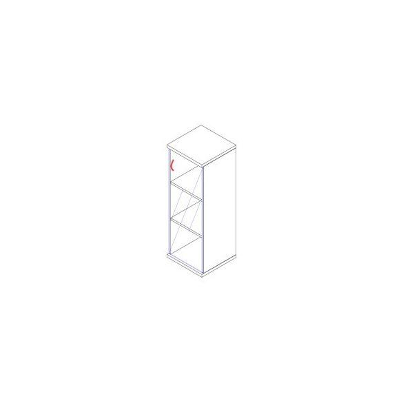 117-1Ü-B üvegajtós-polcos feles irodaszekrény balos kivitelben - 3 fakk