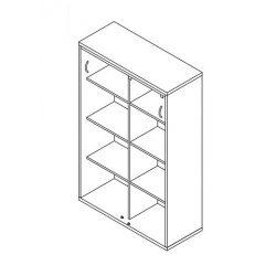 151-2A-TO-100 tolóajtós szekrény - 4 fakk
