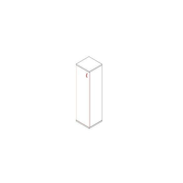 153-1A-B ajtós-polcos feles irodaszekrény balos kivitelben - 4 fakk
