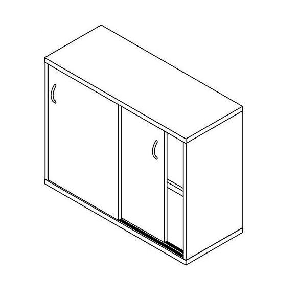 71-2A-TO-100 tolóajtós szekrény - 2 fakk