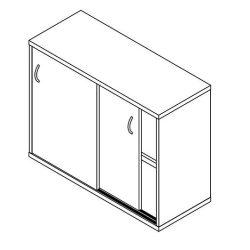 2 fakkos tolóajtós szekrény