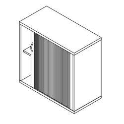 71-RED-120-B redőnyös szekrény balos kivitelben - 2 fakk