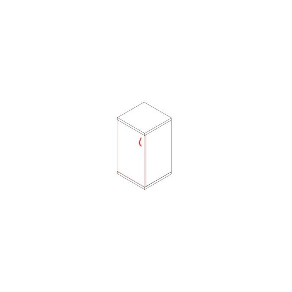 77-1A-B-AM ajtós-polcos asztalmagas irodaszekrény balos kivitelben - 2 fakk