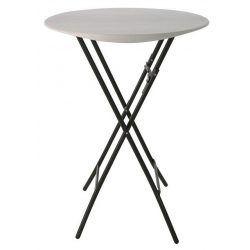 M - Catering összecsukható és rakásolható rendezvény (koktél) asztal ø84 cm (80362)