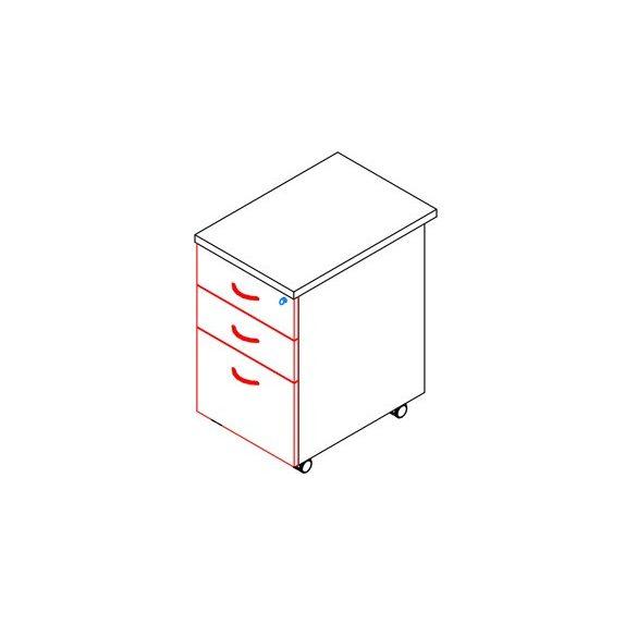 83-2F/1R-FA konténer - 2 fiók, 1 rendező