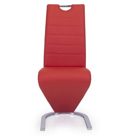 D - Lord szánkótalpas szék krómozott lábakkal és piros műbőrrel