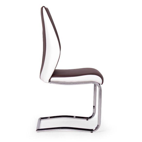 D - Adél krómvázas szék barna műkőr kárpittal