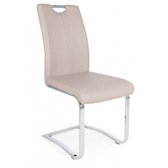 D - Mona szánkótalpas krómvázas szék bézs műbőrrel