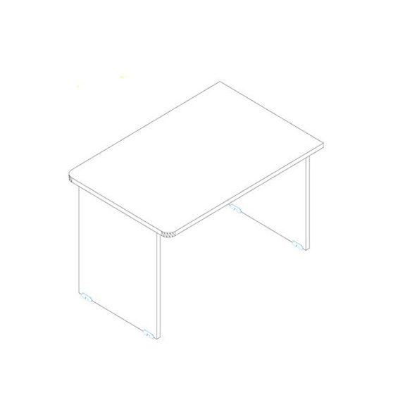 EK 140/80 íróasztal az egyik oldalt lekerekített éllel