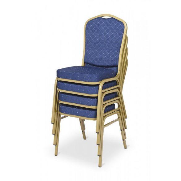 ES 160 konferenciaszék arany váz - kék szövet