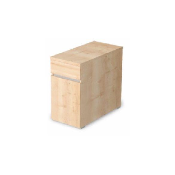 EX-1FA-B-AM 1 ajtós, 1 fiókos asztalmagas konténer balos kivitelben