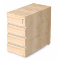 EX-4F-AM 4 fiókos asztalmagas konténer