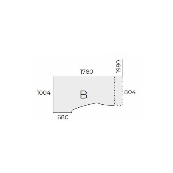 EX HB 198/100 íróasztal balos kivitelben