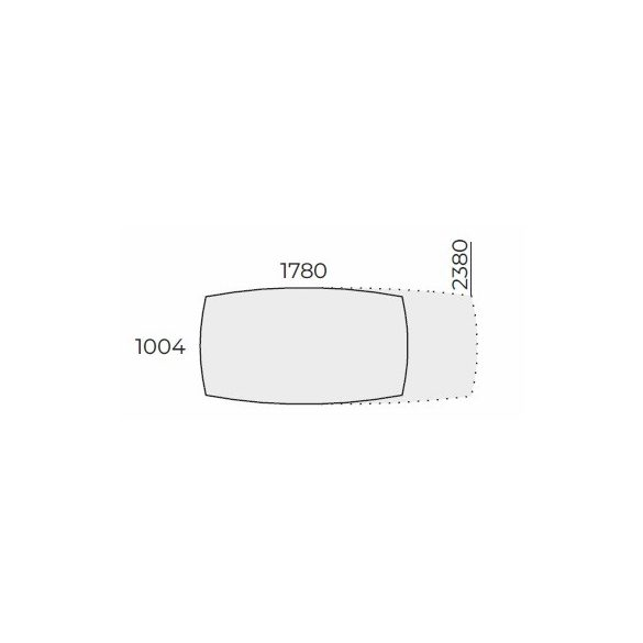 EX TBK 178/100 íves laplábas tárgyalóasztal