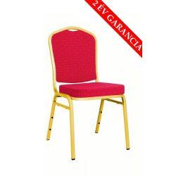 ES 100 konferencia szék arany váz - bordó szövet
