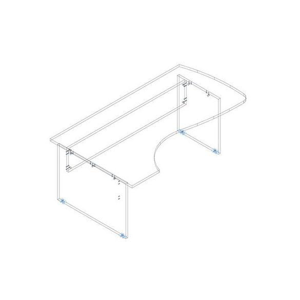 FC 200/120 íróasztal balos kivitelben
