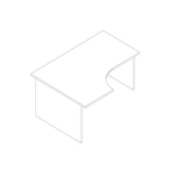 GA 160/102 íróasztal balos kivitelben