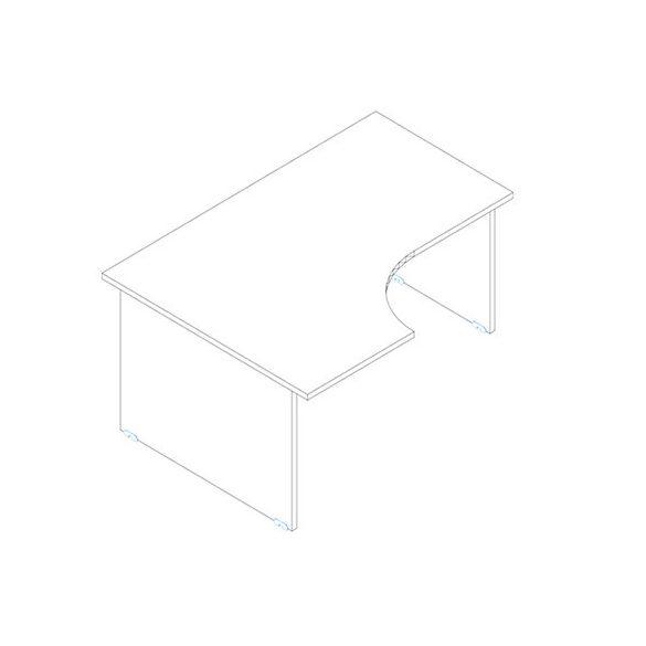 GA 160/120 íróasztal jobbos kivitelben