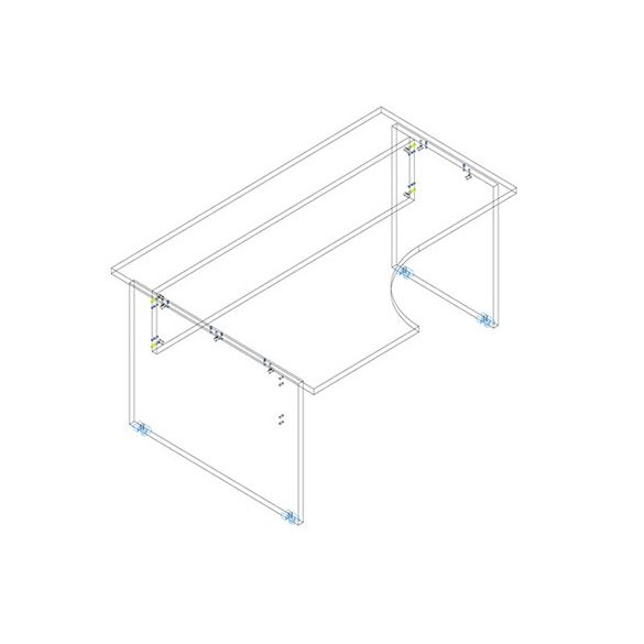 GA 160/120 íróasztal balos kivitelben
