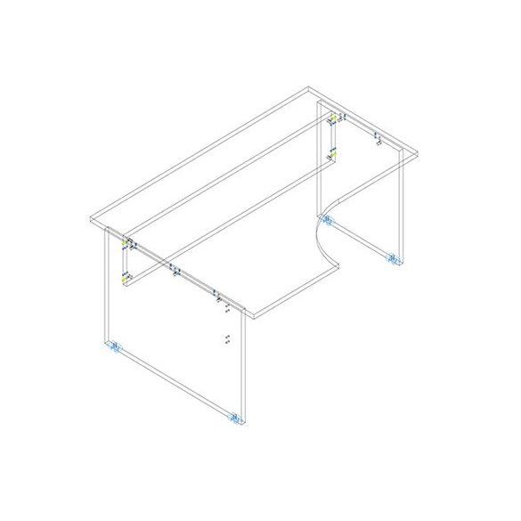 GA 180/102 íróasztal balos kivitelben