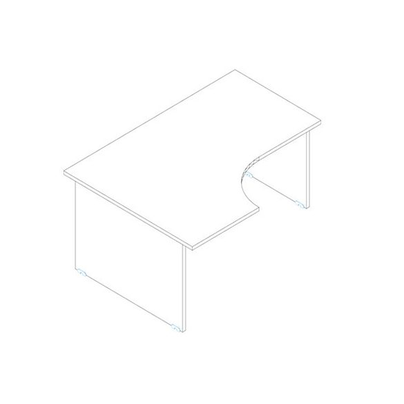 GA 180/120 íróasztal balos kivitelben