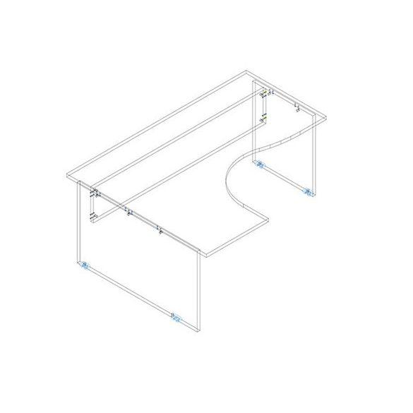 GB 180/140 íróasztal balos kivitelben