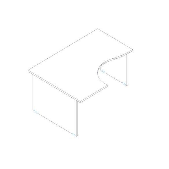 GB 200/120 íróasztal balos kivitelben