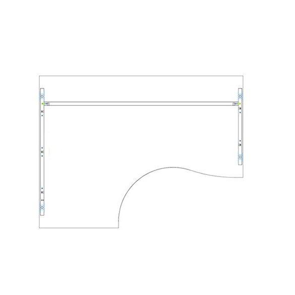 GB 200/140 íróasztal balos kivitelben