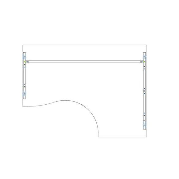 GB 200/140 íróasztal jobbos kivitelben