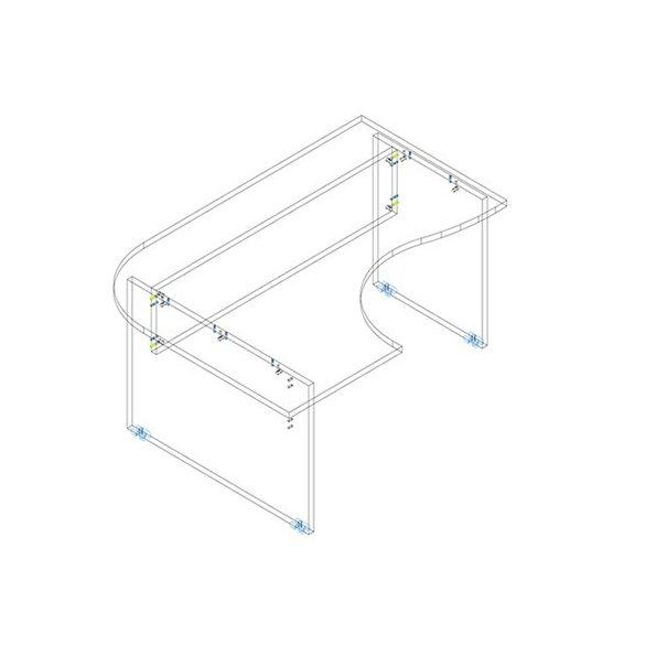 GC 160/120 íróasztal balos kivitelben