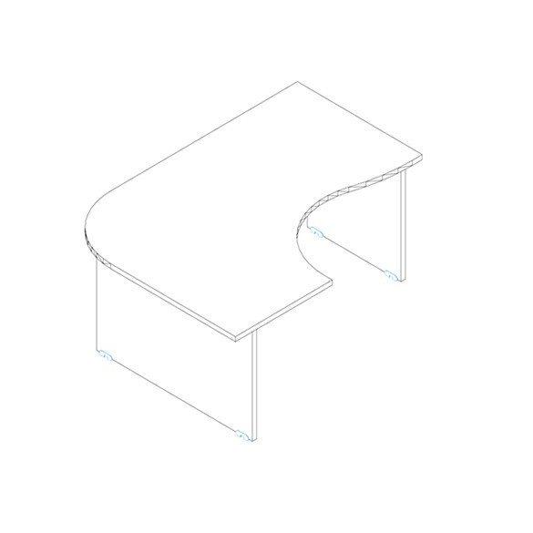 GC 160/120 íróasztal jobbos kivitelben