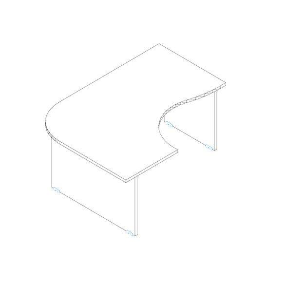 GC 180/120 íróasztal balos kivitelben