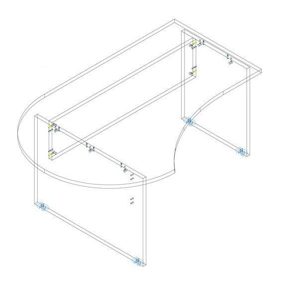 GF 180/120 íróasztal balos kivitelben