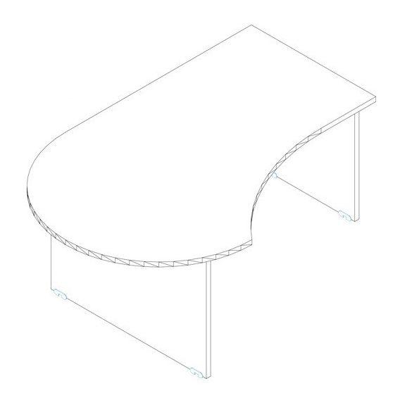 GF 200/120 íróasztal balos kivitelben