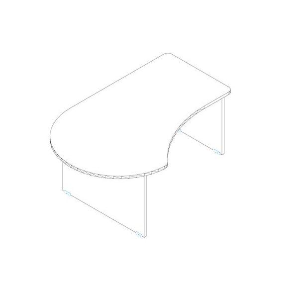GG 200/120 íróasztal balos kivitelben