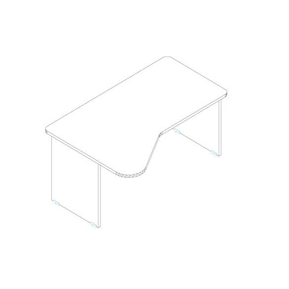 GI 160/110 íróasztal balos kivitelben