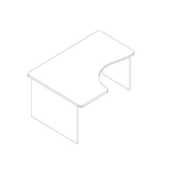 GI 160/120 íróasztal balos kivitelben