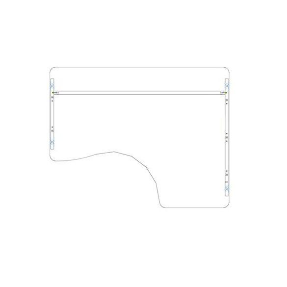 GI 160/120 íróasztal jobbos kivitelben