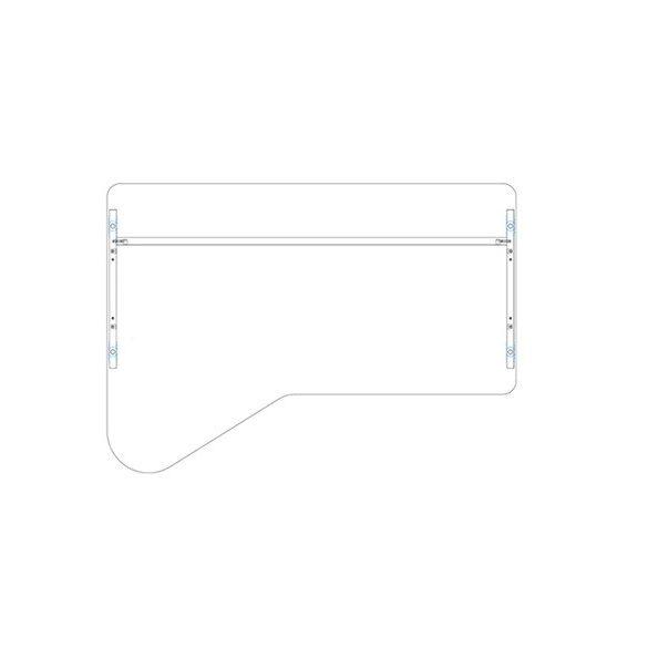 GI 180/110 íróasztal balos kivitelben