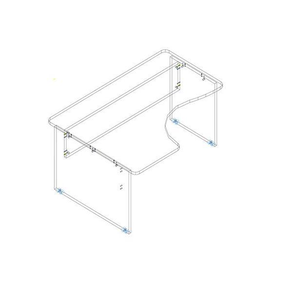 GI 180/120 íróasztal balos kivitelben