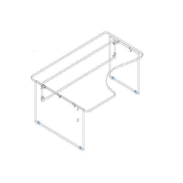 GI 200/120 íróasztal balos kivitelben