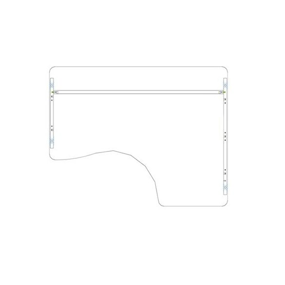 GI 200/120 íróasztal jobbos kivitelben