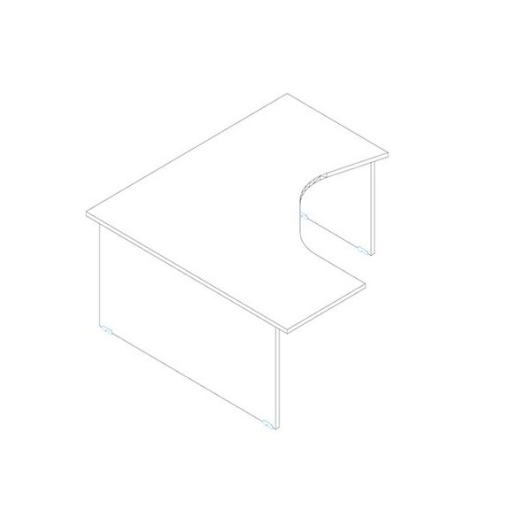 GM 160/160 íróasztal balos kivitelben