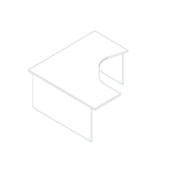 GM 180/160 íróasztal balos kivitelben