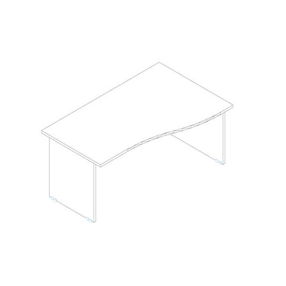 GN 160/100 íróasztal jobbos kivitelben