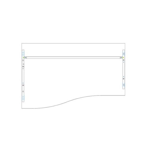 GN 180/100 íróasztal balos kivitelben