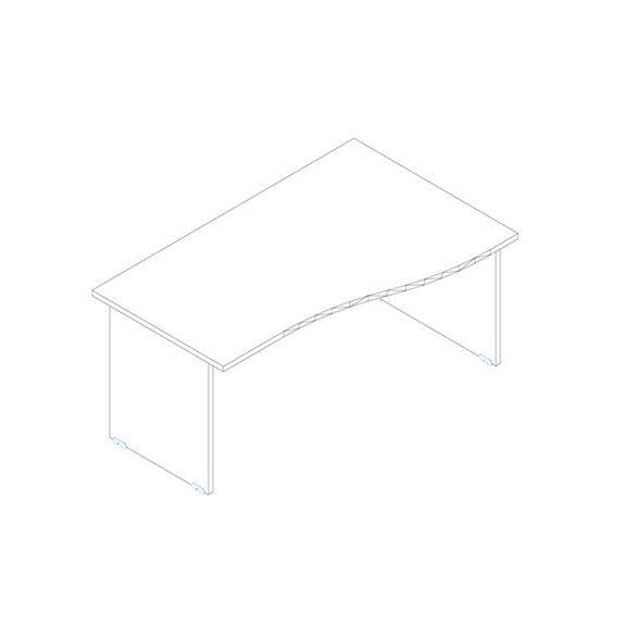 GN 180/100 íróasztal jobbos kivitelben